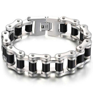 "316L Stainless Steel ""Chunky Links"" Bracelet - Blown Biker - 1"