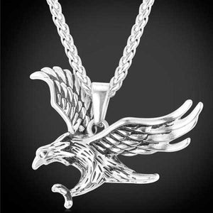 "316L Stainless Steel ""Flying Eagle"" Pendant Necklace - Blown Biker - 02"