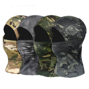 "Camouflage ""Shield"" Full Face Motorcycle Mask - Blown Biker - 1"