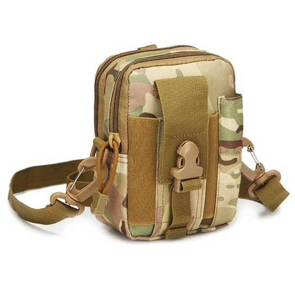 "Military ""Camo"" Mens Shoulder Bag - Blown Biker - 1"
