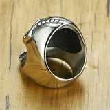 "316L Stainless Steel ""Bottled Skull"" Ring - Blown Biker - 4"