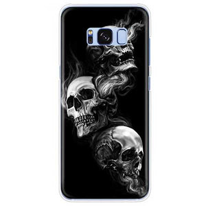"""Smoking Skulls"" Samsung Phone Case - Blown Biker - 1"