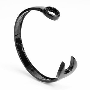 "316L Stainless Steel ""Black Wrench"" Adjustable Mens Bracelet - Blown Biker - 1"