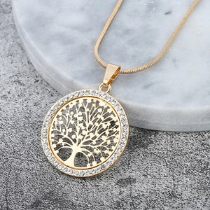 "Rose Gold ""Tree Of Life"" Pendant Necklace - Blown Biker - 2"