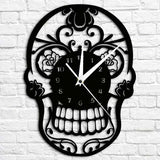 """Mexican Skull"" Wall Clock - Blown Biker - 1"