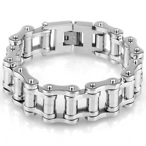 "316L Stainless Steel ""Chunky Links"" Bracelet - Blown Biker - 2"