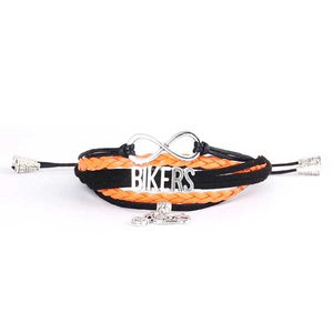 """Bikers"" Charm Bracelet with Tassels - Blown Biker - 2"