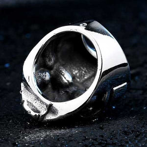 "316L Stainless Steel ""Knight Skull"" Ring - Blown Biker - 2"
