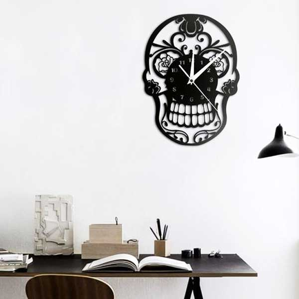 """Mexican Skull"" Wall Clock - Blown Biker - 2"