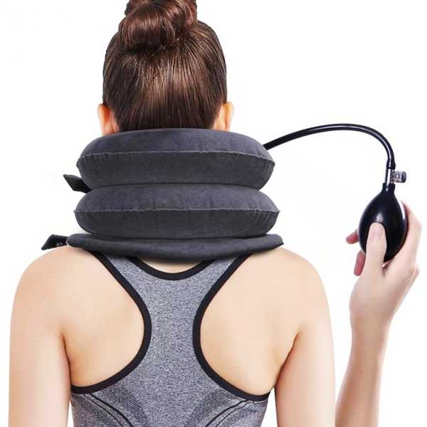 Inflatable Cushioned Neck Support Brace - Blown Biker - 2