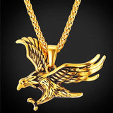 "316L Stainless Steel ""Flying Eagle"" Pendant Necklace - Blown Biker - 03"
