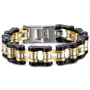 "316L Stainless Steel ""Chunky Colors"" Biker Bracelet - Blown Biker - 2"