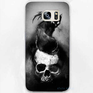 """Cat Skull"" Samsung Phone Case - Blown Biker - 1"