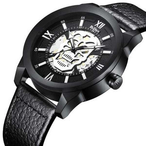 "Quartz ""Steampunk Skull"" Mens Watch - Blown Biker - 5"