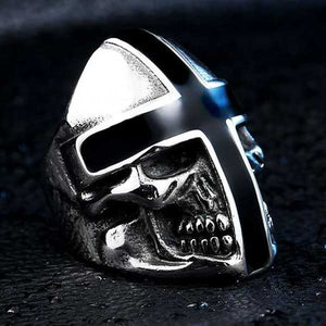 "316L Stainless Steel ""Knight Skull"" Ring - Blown Biker - 3"