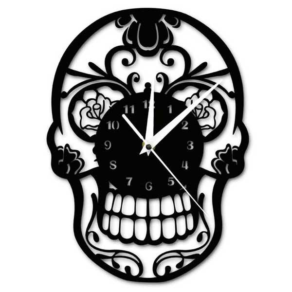 """Mexican Skull"" Wall Clock - Blown Biker - 3"