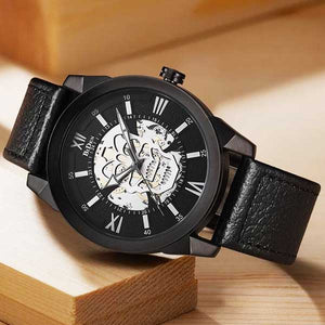 "Quartz ""Steampunk Skull"" Mens Watch - Blown Biker - 2"