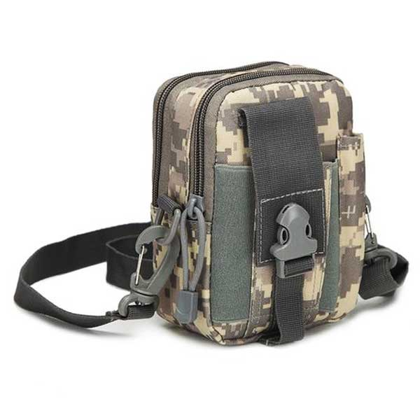 "Military ""Camo"" Mens Shoulder Bag - Blown Biker - 3"