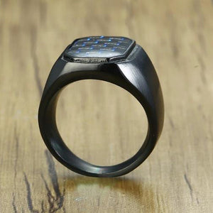 "316L Stainless Steel ""Carbon Signet"" Ring - Blown Biker - 3"