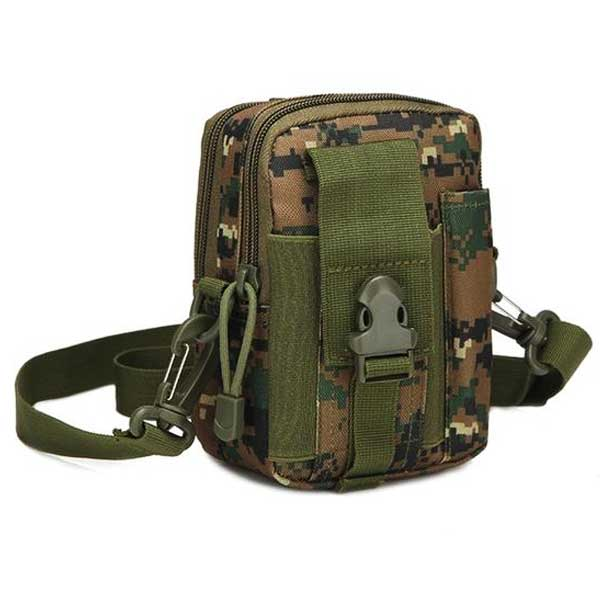 "Military ""Camo"" Mens Shoulder Bag - Blown Biker - 4"