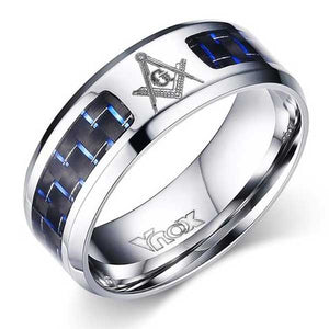 Engraved Stainless Steel Ring w/ Carbon Fiber Inlay - Blown Biker - 4