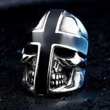"316L Stainless Steel ""Knight Skull"" Ring - Blown Biker - 4"