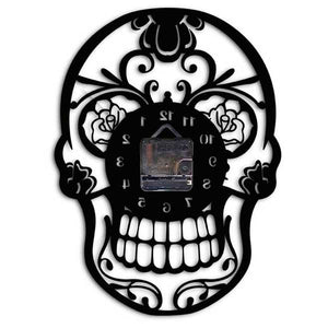 """Mexican Skull"" Wall Clock - Blown Biker - 4"