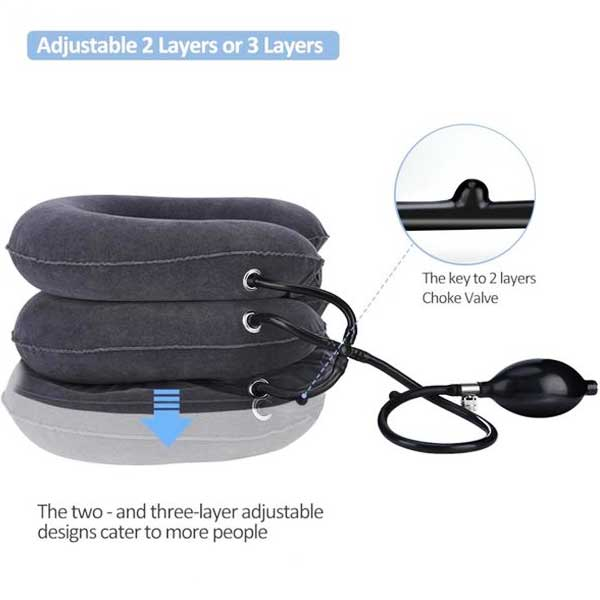 Inflatable Cushioned Neck Support Brace