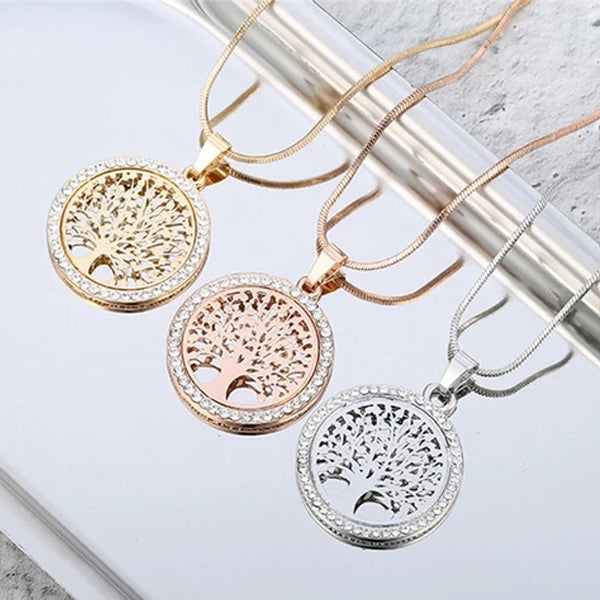 "Rose Gold ""Tree Of Life"" Pendant Necklace - Blown Biker - 4"