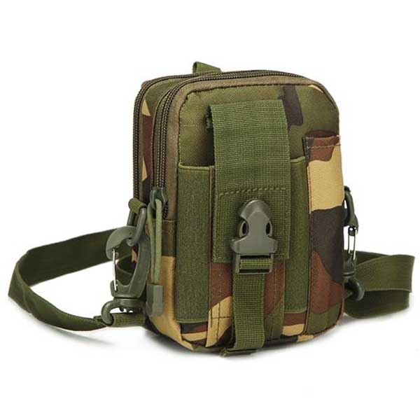 "Military ""Camo"" Mens Shoulder Bag - Blown Biker - 5"