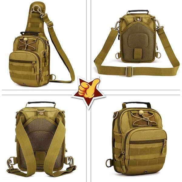 "Military Grade ""Tactical"" Mens Shoulder Bag - Blown Biker - 8"