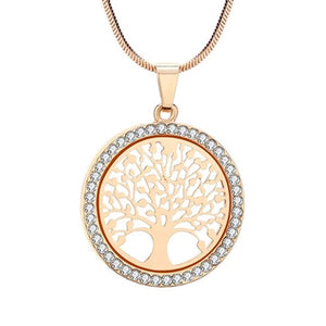 "Rose Gold ""Tree Of Life"" Pendant Necklace - Blown Biker - 5"