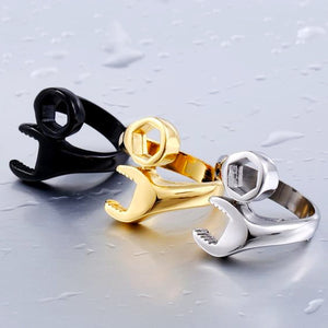 "316L Stainless Steel ""Wrench"" Ring - Blown Biker - 1"