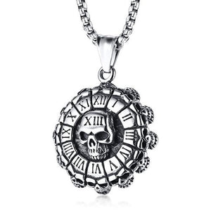 "316L Stainless Steel ""Roman Skull"" Pendant Necklace - Blown Biker - 2"