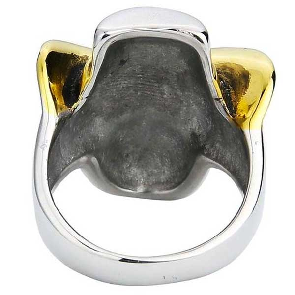 "316L Stainless Steel ""Cowboy Skull"" Ring - Blown Biker - 6"