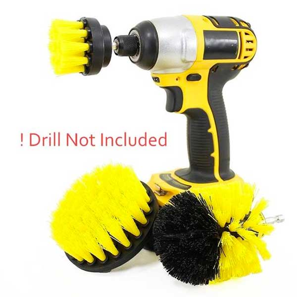 "3 Piece ""Power Scrub"" Brush Drill Cleaning Kit - Blown Biker - 2"