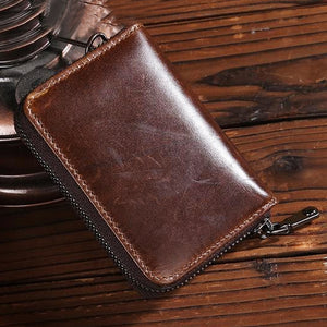 "Leather ""Zipper"" Credit Card Holder - Blown Biker - 1"