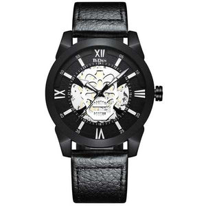 "Quartz ""Steampunk Skull"" Mens Watch - Blown Biker - 7"