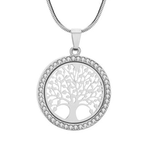 "Rose Gold ""Tree Of Life"" Pendant Necklace - Blown Biker - 6"
