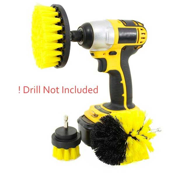 "3 Piece ""Power Scrub"" Brush Drill Cleaning Kit - Blown Biker - 3"