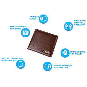 "Genuine Leather ""Never Lose"" Bluetooth Wallet with GPS - Blown Biker - 9"