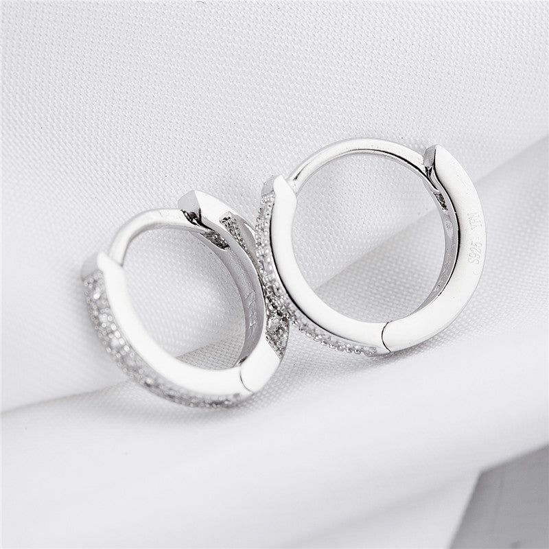 925 Sterling Silver Hoop Earrings - Blown Biker - 2