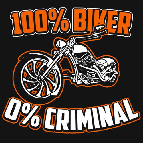 100% Biker T-Shirt (Front Print) - Blown Biker - 1