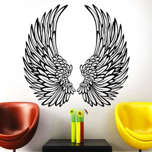 """Angel Wings"" Vinyl Wall Art Stickers - Blown Biker - 13"