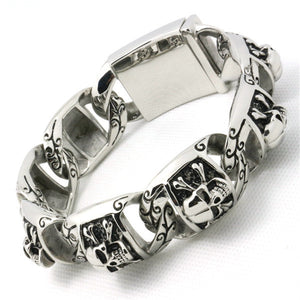 "316L Stainless Steel ""Biker Punk"" Bracelet - Blown Biker - 2"