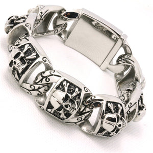 "316L Stainless Steel ""Biker Punk"" Bracelet - Blown Biker - 1"