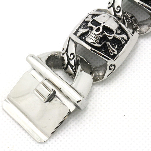 "316L Stainless Steel ""Biker Punk"" Bracelet - Blown Biker - 3"