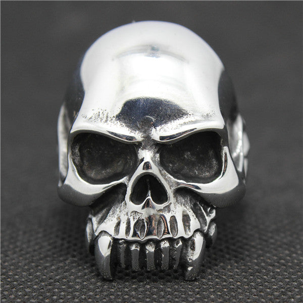 "316L Stainless Steel ""Sharp Teeth Skull"" Ring"