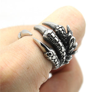 "316L Stainless Steel ""Punk Style Claw"" Ring"