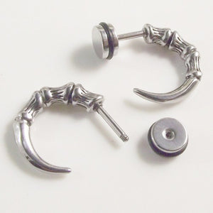 "316 Stainless Steel ""Hawk Claw"" Earrings - Blown Biker - 1"